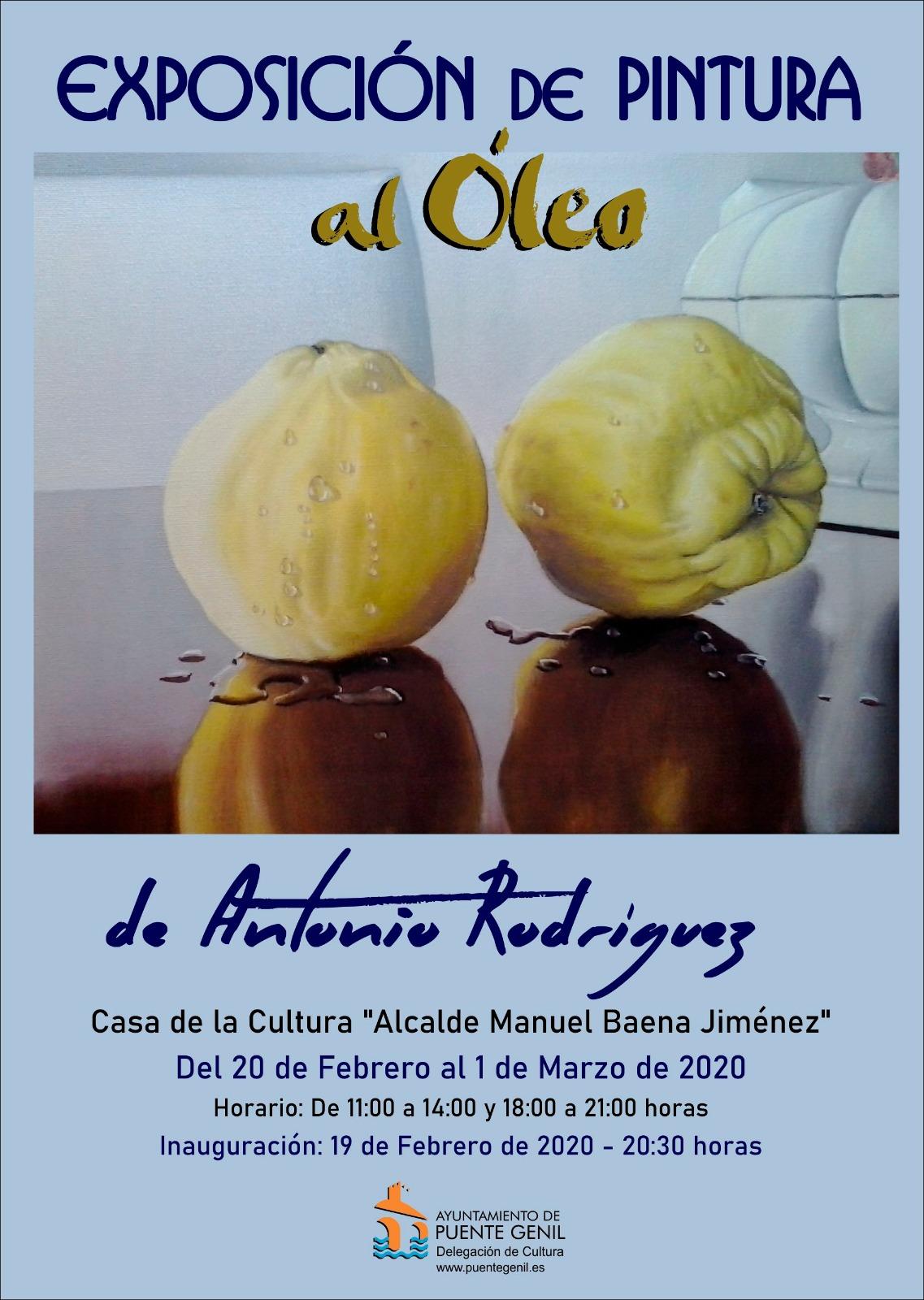 Exposición al óleo de Antonio Rodríguez