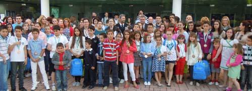 Alumnos participantes en el programa de Educación Vial