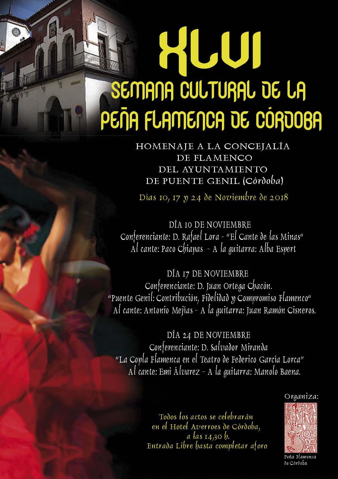 Cartel Peña Flamenca Córdoba 2018