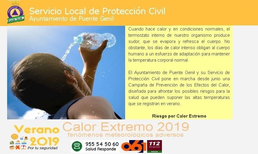 Campaña para prevenir los efectos de las altas temperaturas