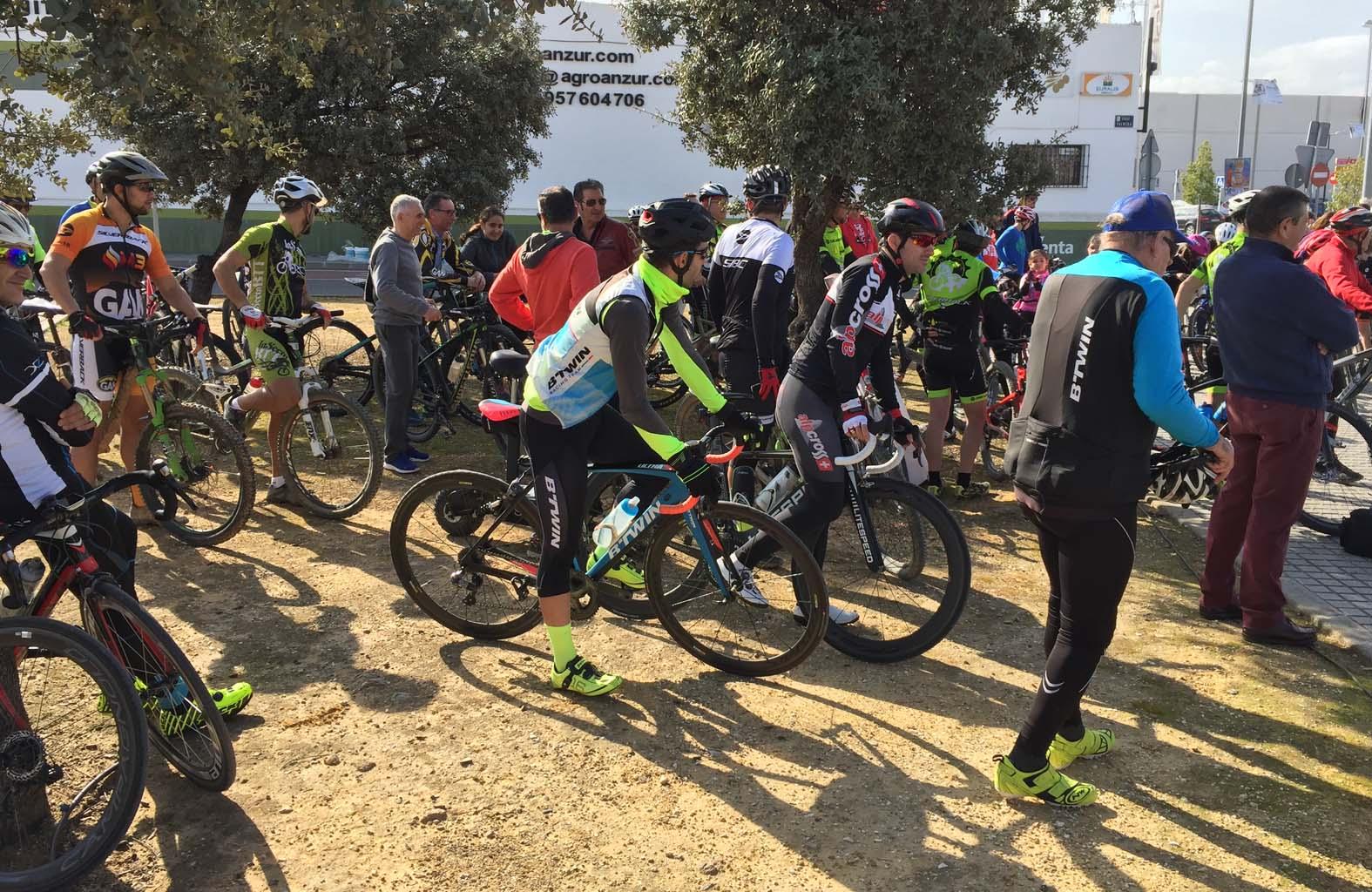 Concentración de ciclistas