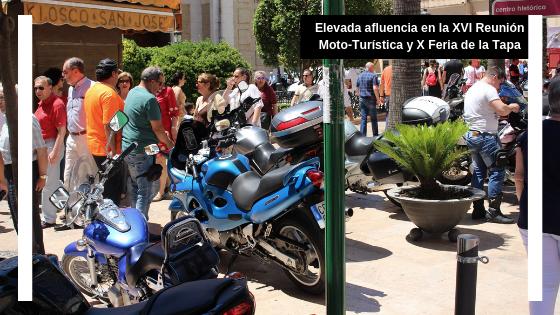 Elevada participación en la XVI reunión moto-turística y X feria de la tapa
