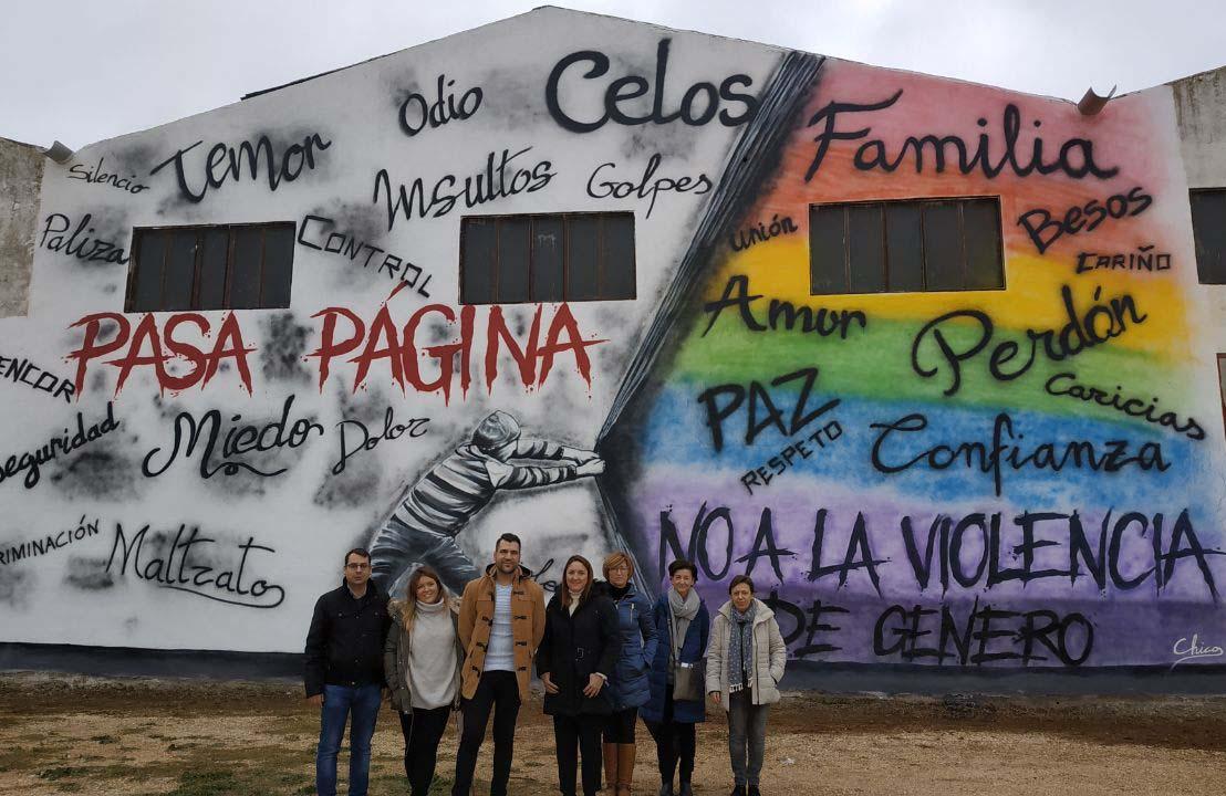 Grafiti en la trasera de las naves Expo