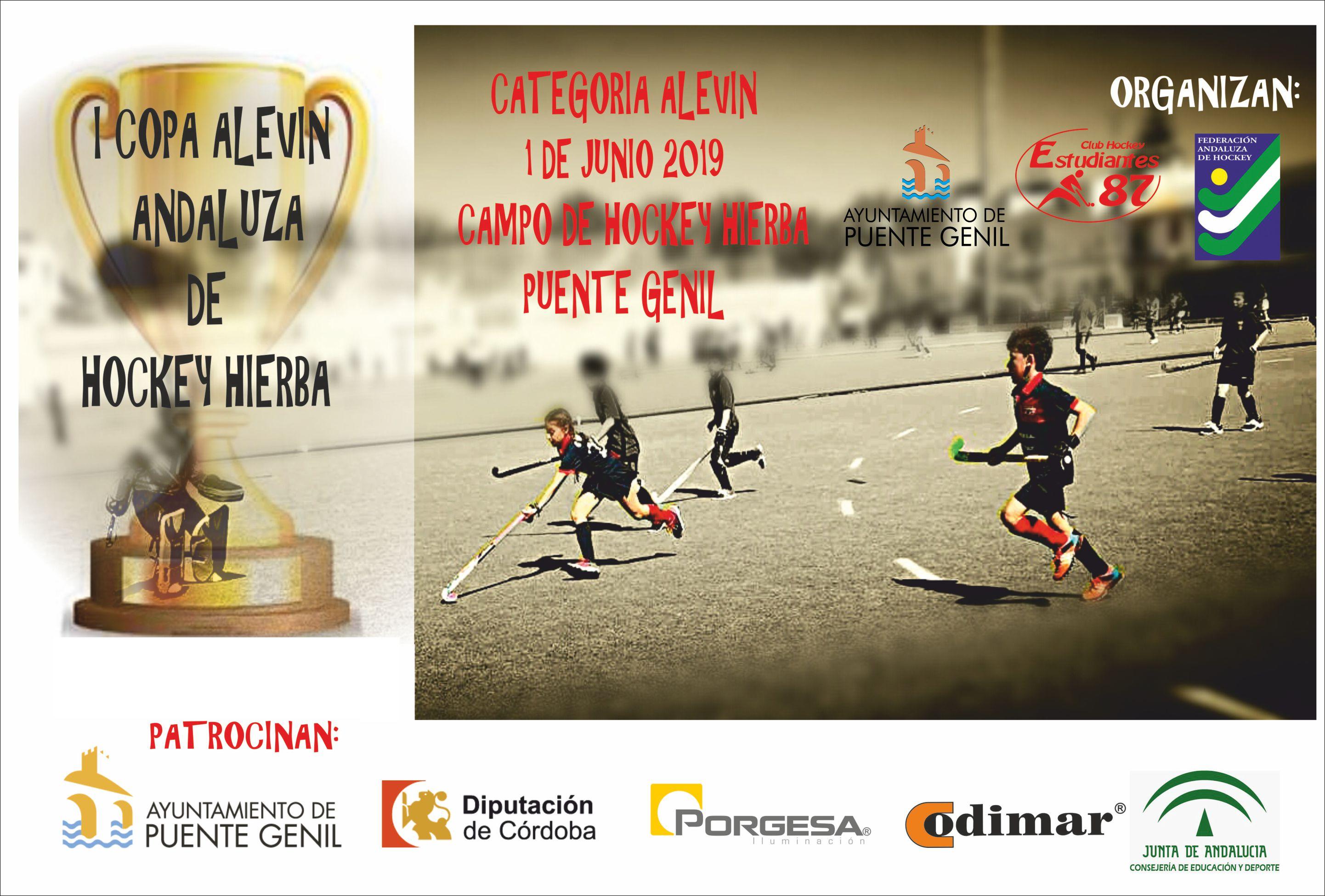Cartel I Copa Andalucía alevin de Hockey Hierba 2019
