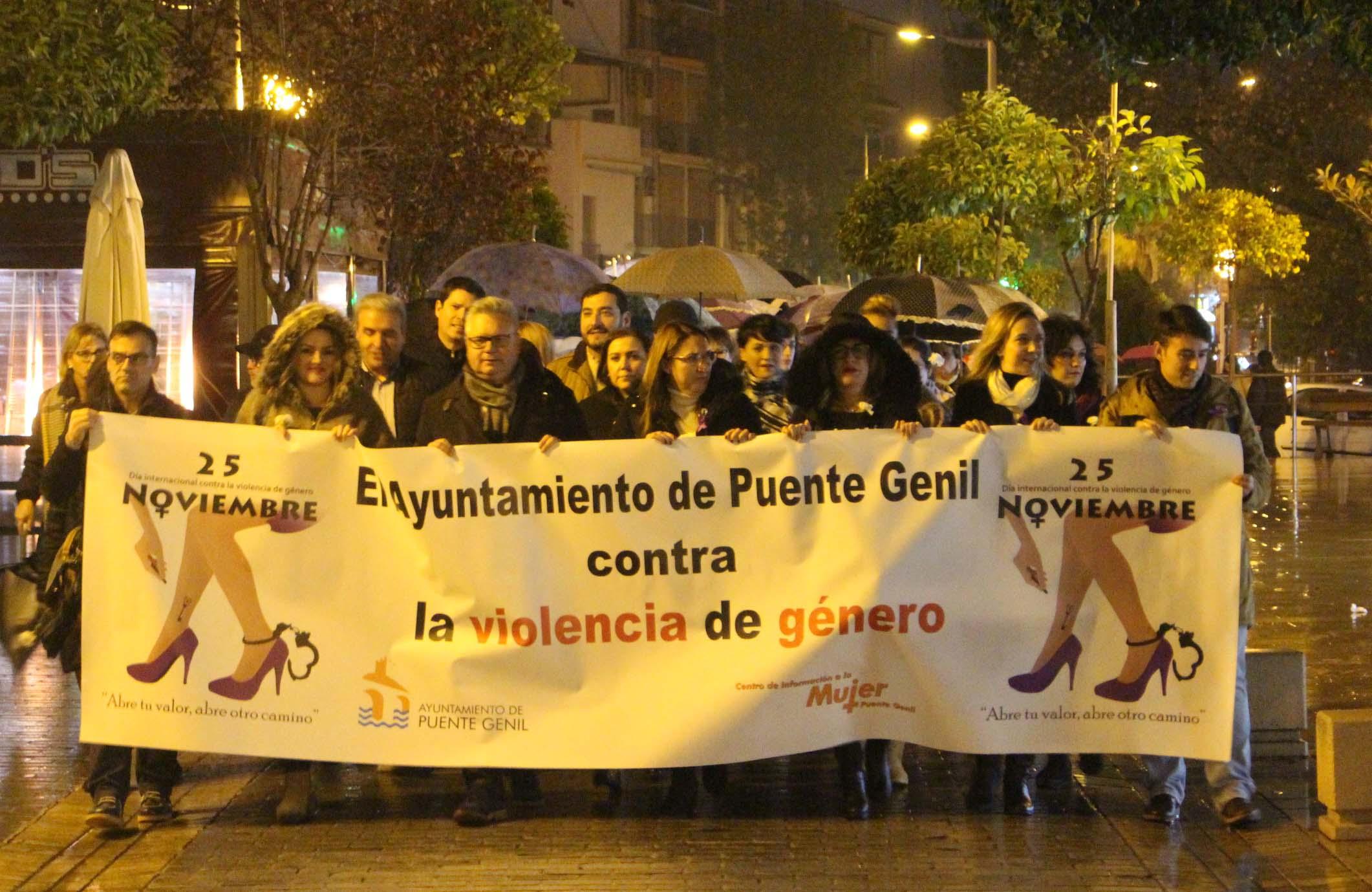 Manifestación contra violencia de género
