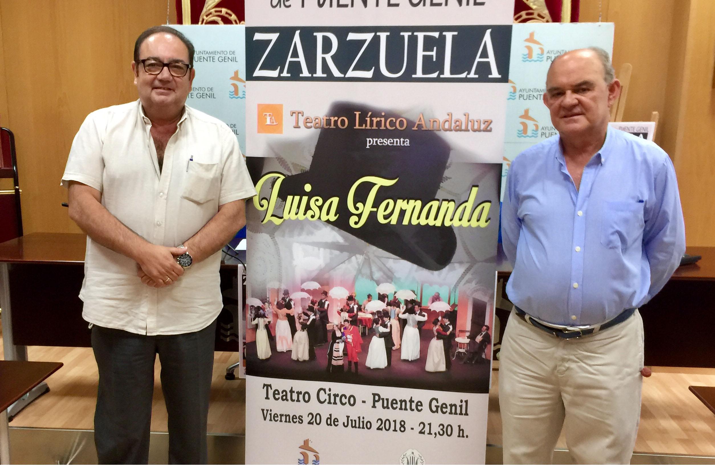 Presentación de la zarzuela Luisa Fernanda