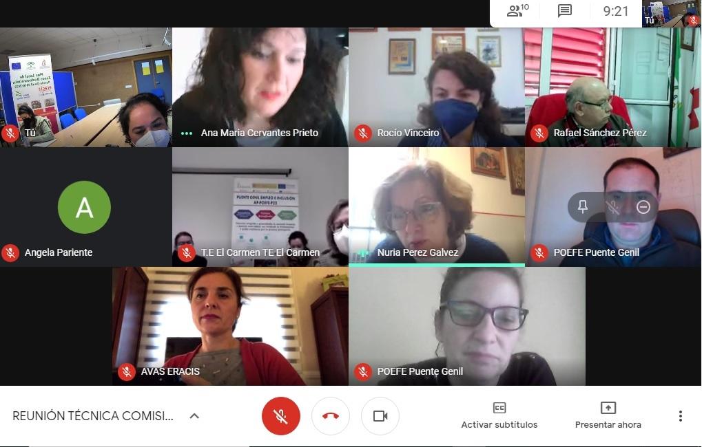 Reunión Eracis Comisión de Formación y Empleo II
