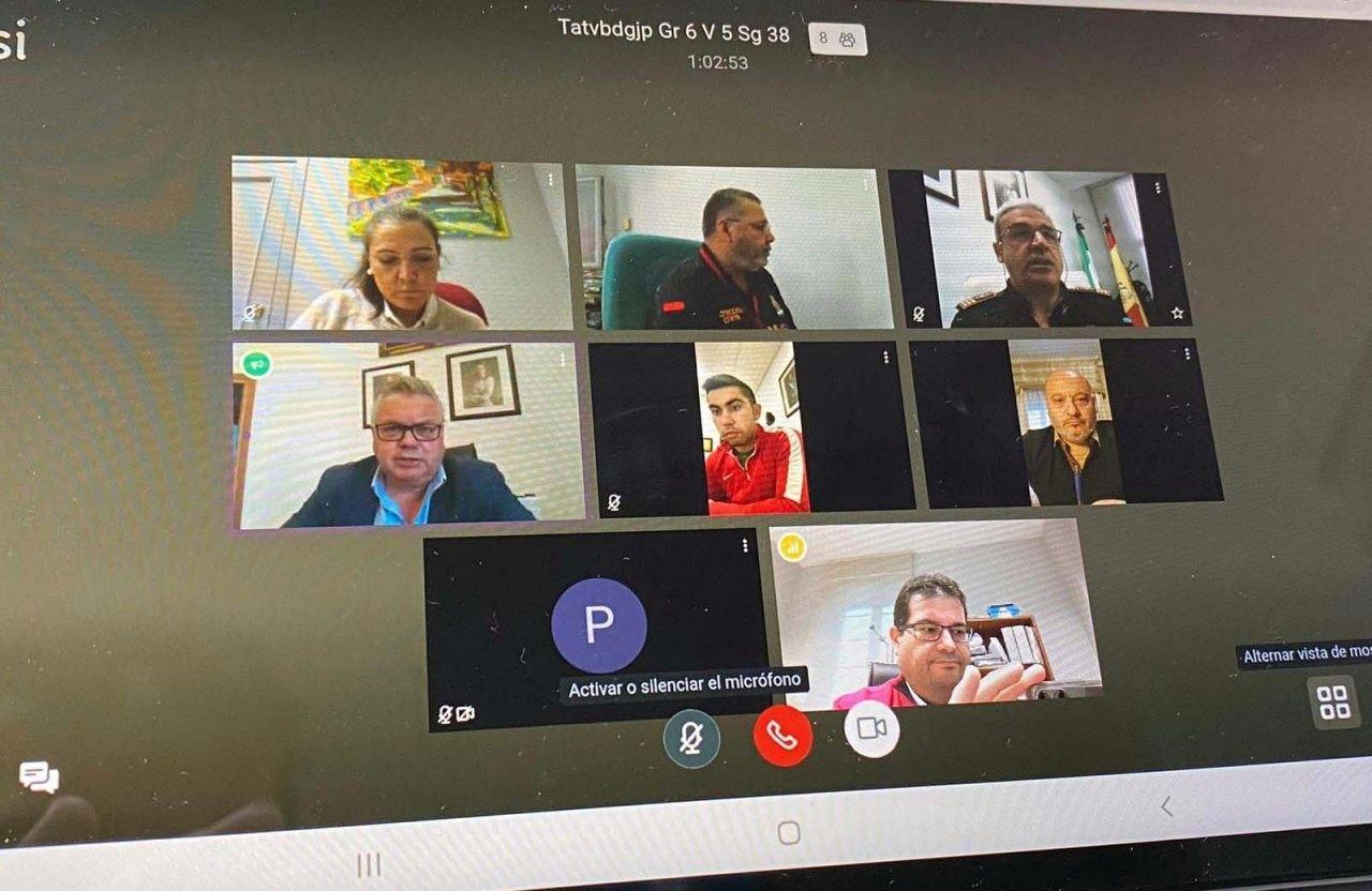 Reunión telemática de la Comisión de Seguridad