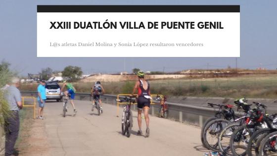 Daniel Molina y Sonia López, ganan la XXIII Duatlón 'Villa de Puente Genil'
