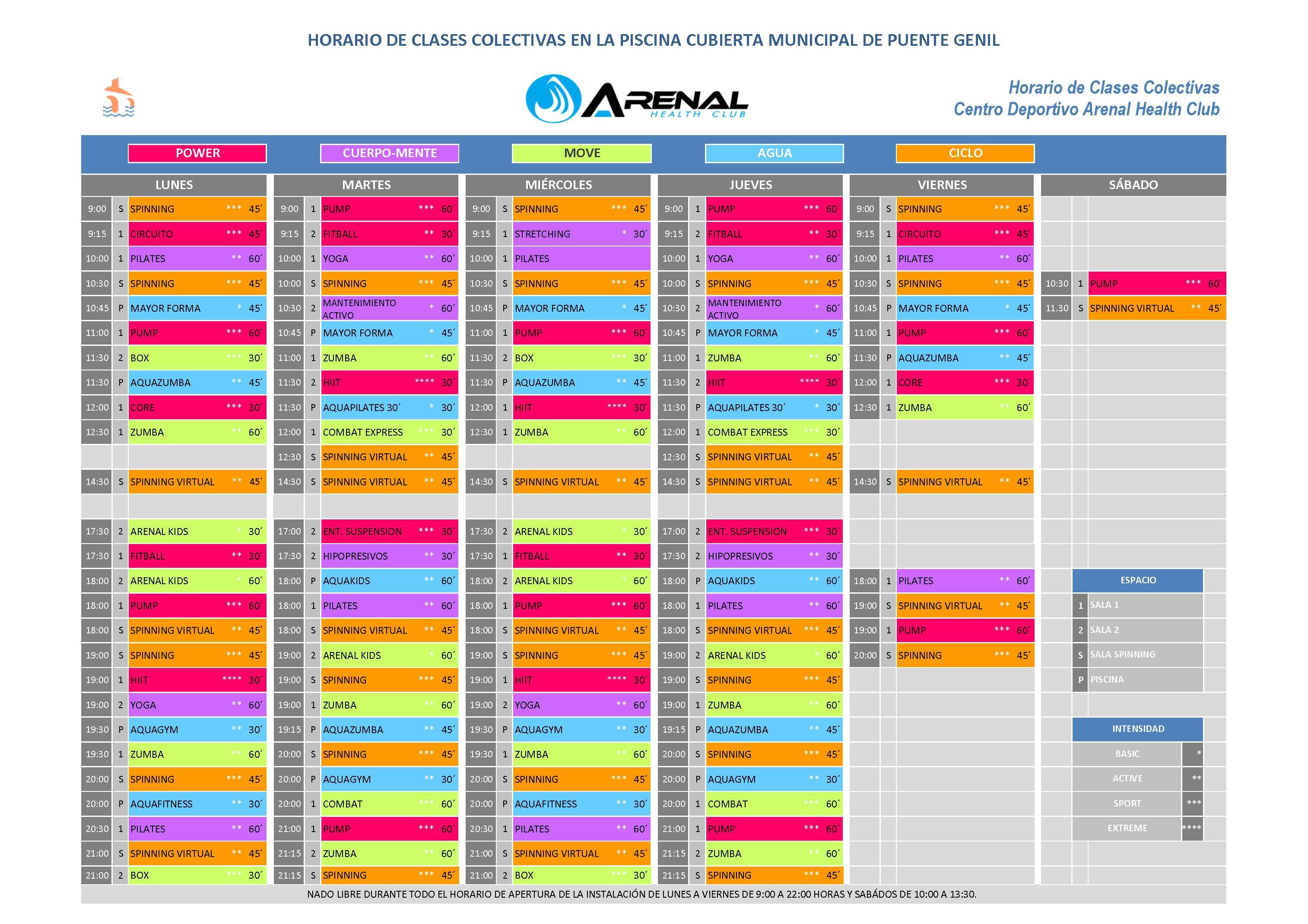 Horario y actividades piscina cubierta ayuntamiento de for Horario piscina alaquas