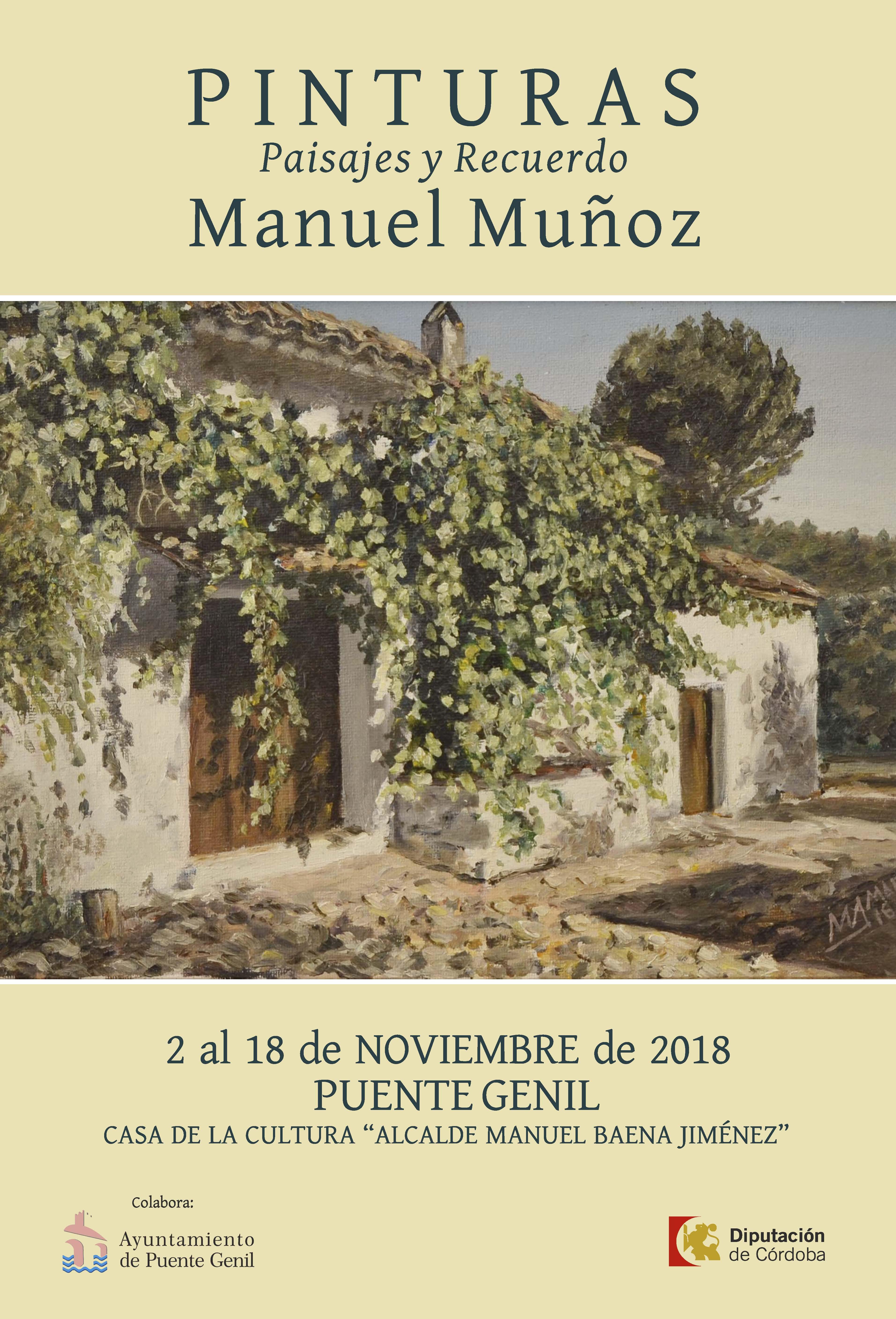 Cartel exposición Manuel Muñoz 18