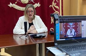 Eva Torres en rueda de prensa telemática
