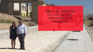 El alcalde gira visita a las obras de apertura del nuevo vial urbanístico de Miragenil