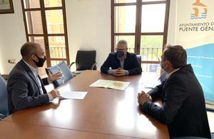 Reunión del alcalde y el delegado