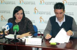 Verónica Morillo concejala de Hacienda y José Antonio Gómez portavoz municipal