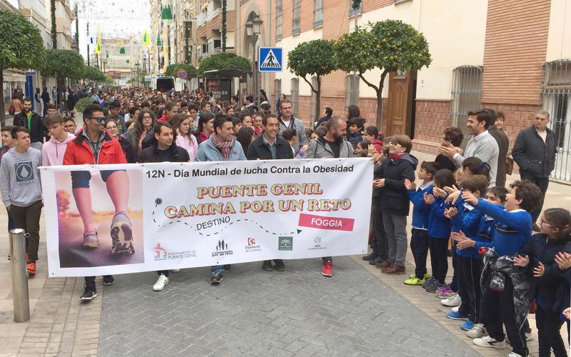 Pancarta que abría la marcha