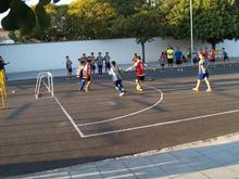 Fútbol 3x3 en la plaza del Ancla