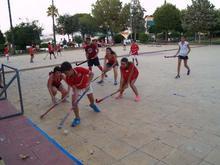 Hockey en el parque de Los Pinos