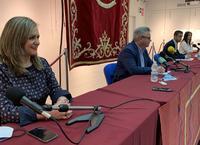 Acto de la firma entre PSOE y Cs