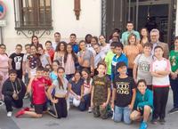 Alumnado del colegio Castillo Anzru