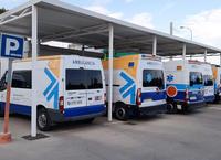 Ambulancias en el Hospital de Puente Genil