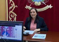 Ana María Carrillo en la rueda de prensa