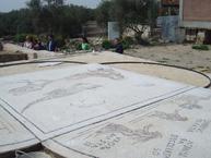 Copia del mosaico nilótico en el yacimiento
