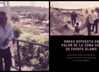 El Alcalde visita las obras de puesta en valor de la zona sur de Fuente Álamo