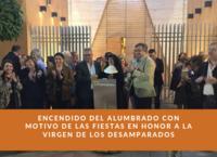 Encendido del alumbrado con motivo de las fiestas en honor a la Virgen de los Desamparados
