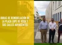 Obras de remodelacion de la plaza Lope de Vega y sus calles adyacentes