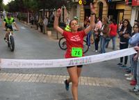 Patricia Sáchez cruzando la línea de meta