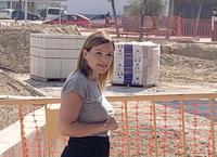 Verónica Morillo visita las obras de la plaza